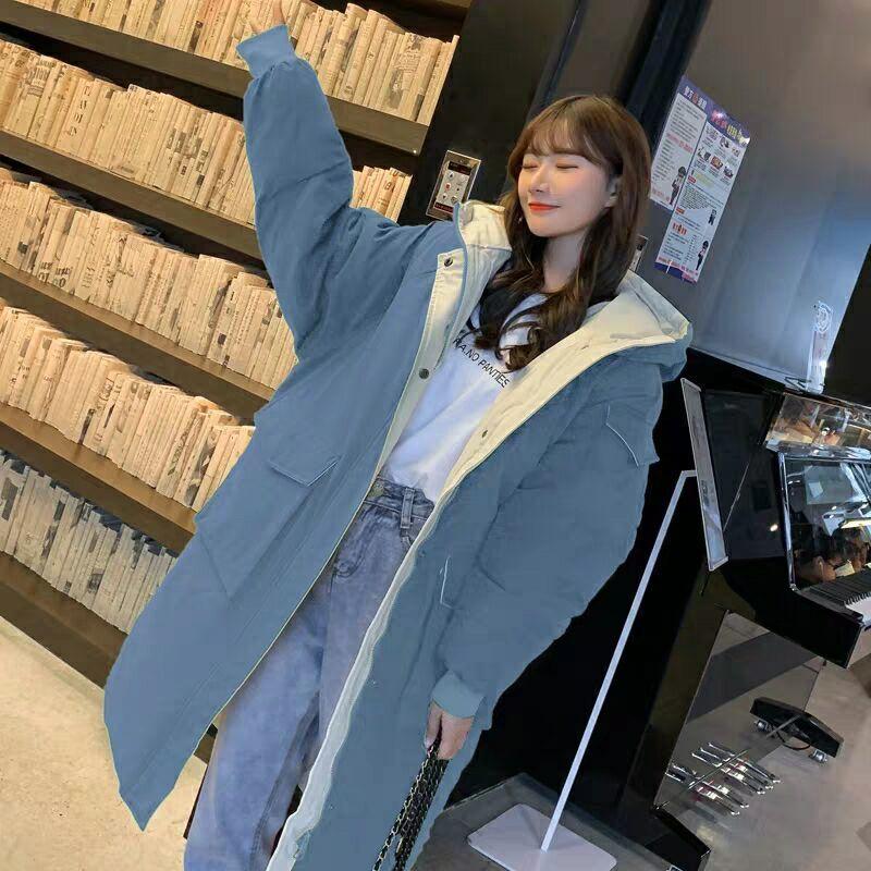 Женская Стеганая куртка средней длины, свободное зимнее женское пальто в Корейском стиле, Одежда большого размера в стиле Харадзюку