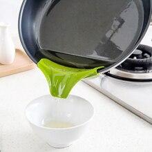 Silicone soupe entonnoir cuisine Gadget outils déflecteur deau outil créatif Anti-déversement Drain Silicone sans lacet Pour soupe bec verseur entonnoir