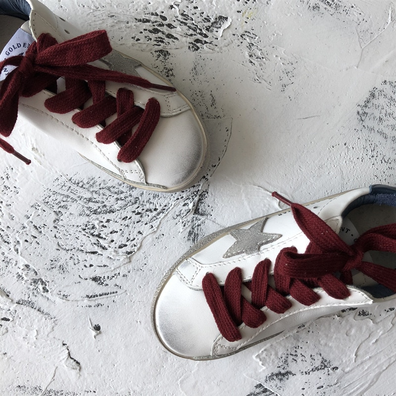 Spring and Summer First Layer Cowhide Children Retro Old Small Dirty Shoes Boys and Girls Casual Kids Fashion Sneakers CS188 enlarge