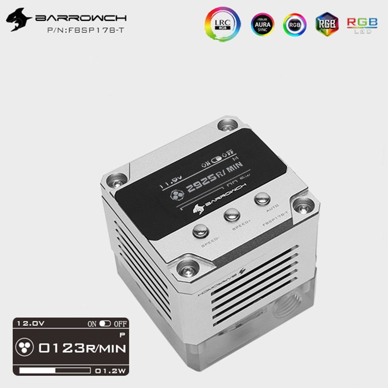 Barrowch is suitable for water circuit board PWM speed regulation type 17W through hole water pump for water channel board Wisdo