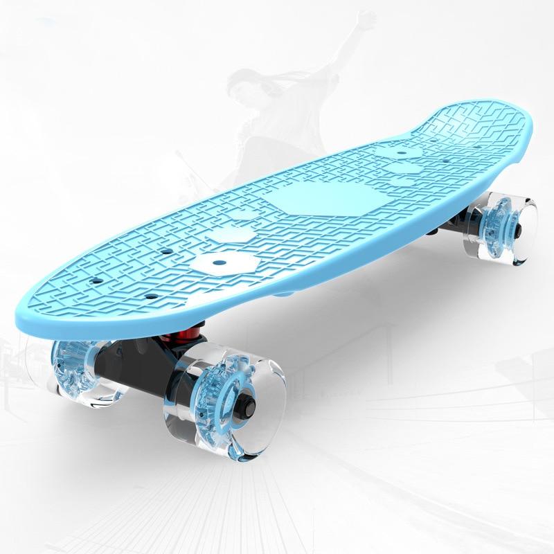 Детский скейтборд, мини-круизер, скейтборд для рыбы, 22 дюйма, взрослый Дрифт, поворотная доска, банан, Пенни, рыболовная доска, Лонгборд для м...