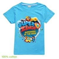 2020 cute super zings children cartoon superzings printed funny t shirt kids summer tops baby girls boys great casual t shirt