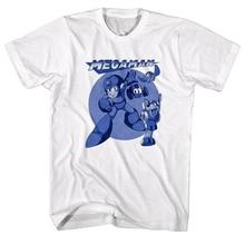 Megaman Zeichen Eilen Hund Männer T Shirt Rokkuman Beat Vintage Gamer Nintendo Anpassen T Shirt