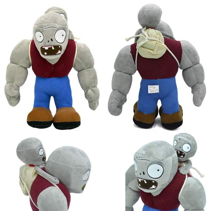 30cm plantas de dibujos animados VS Zombies juguetes de peluche Gargantuar Zombie juguetes de peluche suaves PVZ Gargantuar muñecas de peluche regalos para niños