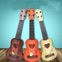 Kuulee 4 cordas crianças simulação jogável ukulele guitarra instrumentos de música educacional brinquedo presentes para iniciantes