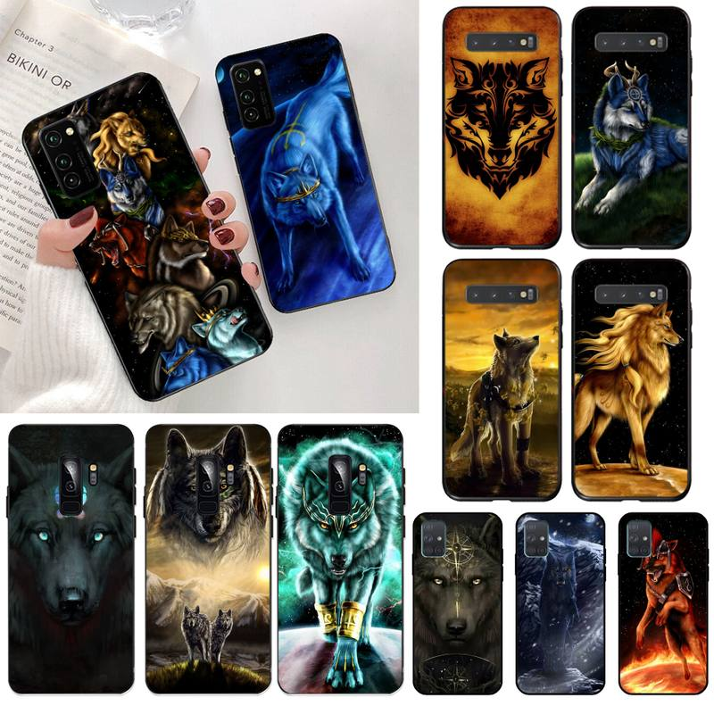 NBDRUICAI The Starry Wolves Animal Wolf High Quality Phone Case for Samsung S20 plus Ultra S6 S7 edg