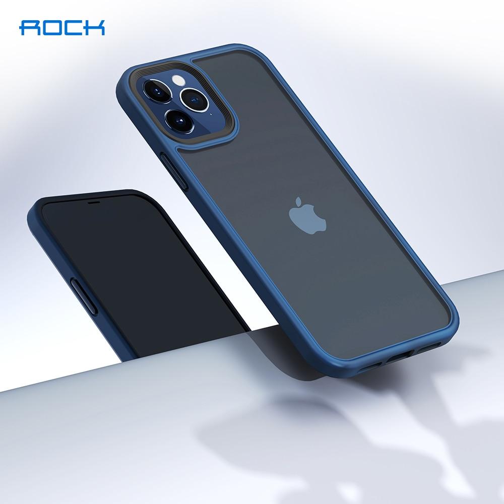 ROCK Translucent Case for iPhone 12 Mini Cover Luxury Anti-knock Matte TPU Bumper Case for iPhone 12 Pro Max PC Back Cover Capa