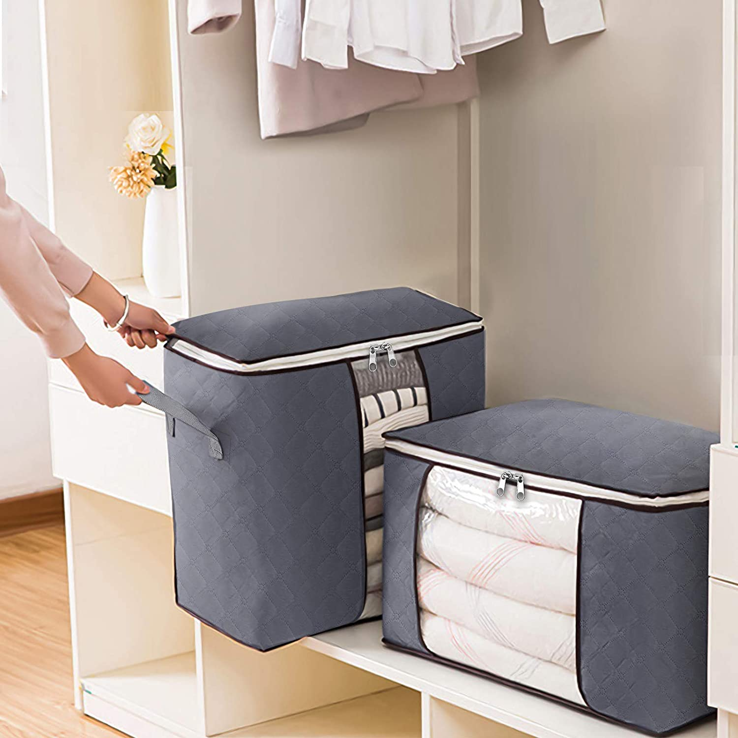 Joybos Storage Organizing MoistureProof Dust-Proof  Folders Quilt Large-Volume Move Bag Clothes Quil