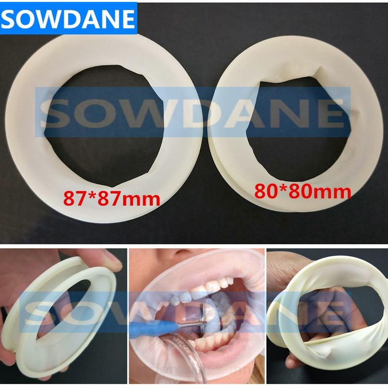Disposable Dental Lips and Cheeks Mouth Opener Latex Oral Rubber Dam for Teeth Whitening Dental Orthodontic Retractor недорого