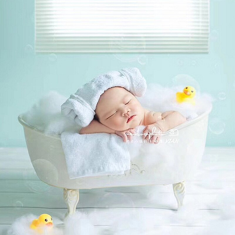 Newborn Baby Photography Props Iron Shower Bathtub Fotografia Accessori Infant Toddler Studio Shooting Photo Props Gift