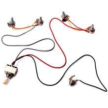 1 faisceau de câbles 3 voies interrupteur à bascule 2V2T 500K Pots & Jack guitare