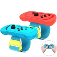 1pair adjustable elastic dance wrist band strap wristband for nintend switch just dance 2019 2020 for joy con controller armband