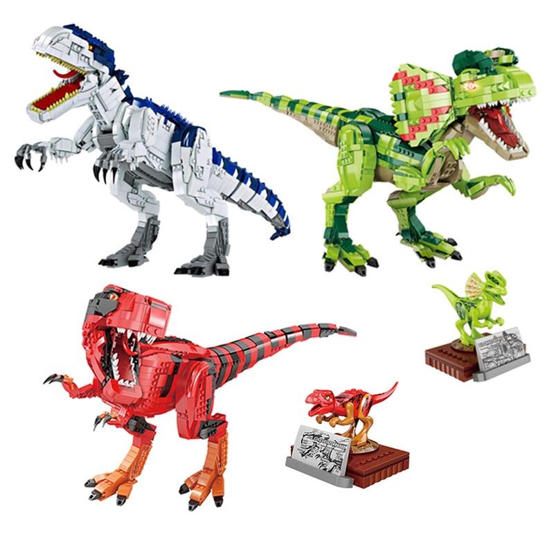2021 جديد اللبنات الجوراسي ديناصور نماذج للحيوانات الكبيرة سويفت ديلوفوسورس الطوب الأطفال هدية الكريسماس اللعب