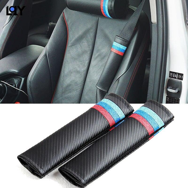 Hombrera de seguridad para cinturón de seguridad de coche LQY, hombrera de fibra de carbono para BMW M e90 e46 e39 e60 f30 f10 f34 x3 x4 x5 e70 f15 x6 M3 M5