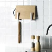 multifunctional kitchen self adhesive accessories cabinet paper holder towel rack paper towel rack storage rack hook 1pc