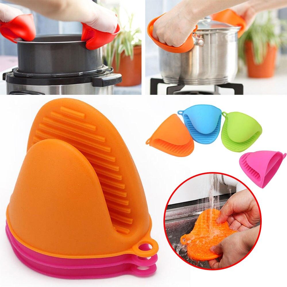 1 Uds. Anti-escald Thicken de silicona organizador de cocina Clips de jarra de calor aislados guantes de horno de microondas Clip de placa caliente