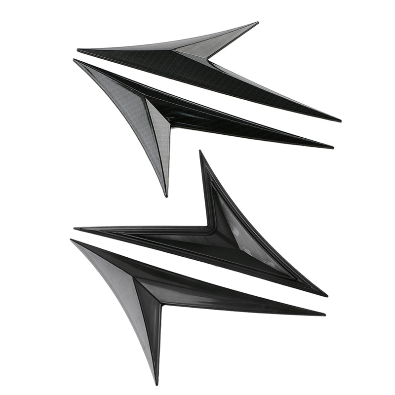 Adhesivos de guardabarros de flujo de aire de ala lateral, moldura de ventilación de admisión de parrilla, estilo de cuchilla para Honda Civic Universal