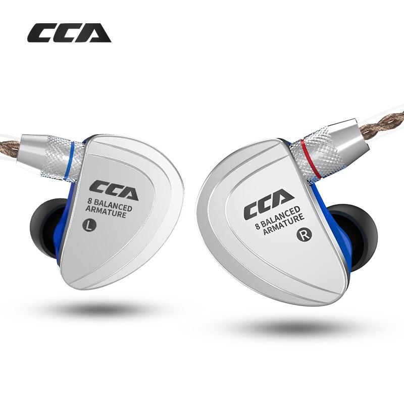 Kz cca c16 8ba unidade de acionamento no ouvido fone 8 armadura balanceada monitoramento de alta fidelidade fone de ouvido com destacável destacam cabo 2pin