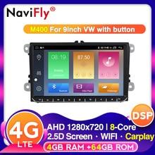 NaviFly voice control 4G RAM 64G ROM 2din Android 10 für Volkswagen VW Golf Passat B6 Polo CC skoda sitz Skoda Auto Radio gps