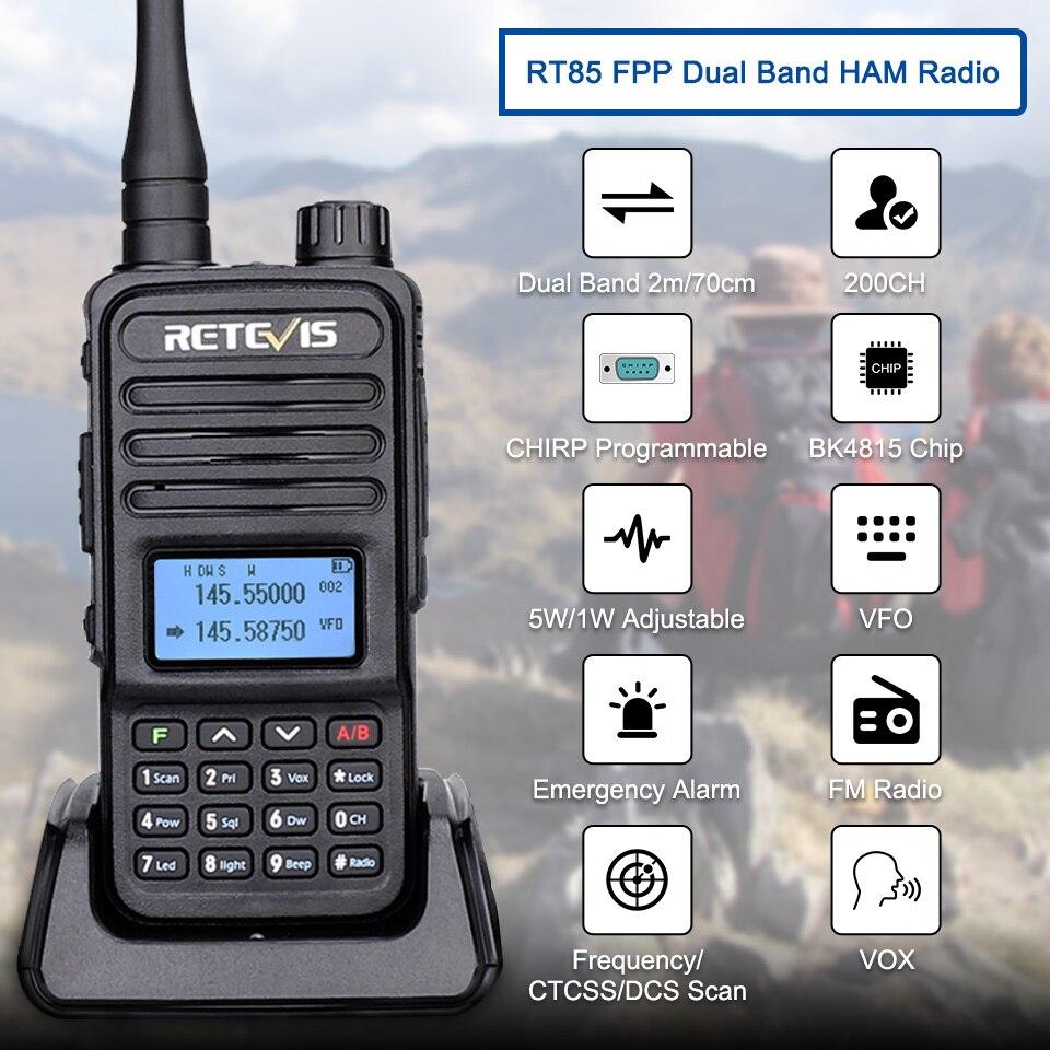 Рация Retevis RT85 5 Вт VHF UHF Двухдиапазонная VFO Любительская двухсторонняя радиостанция BaoFeng UV5R портативная HT для охоты CHIRP