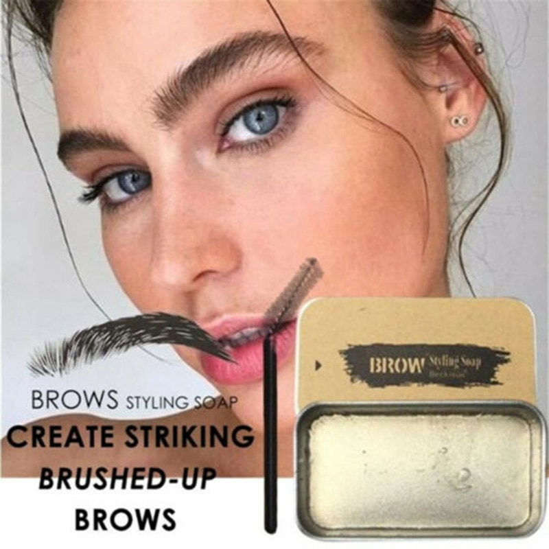 3D Brows Makeup Gel Soap Long Lasting Eyebrow Set Thick Portable Cosmetics for Women MA