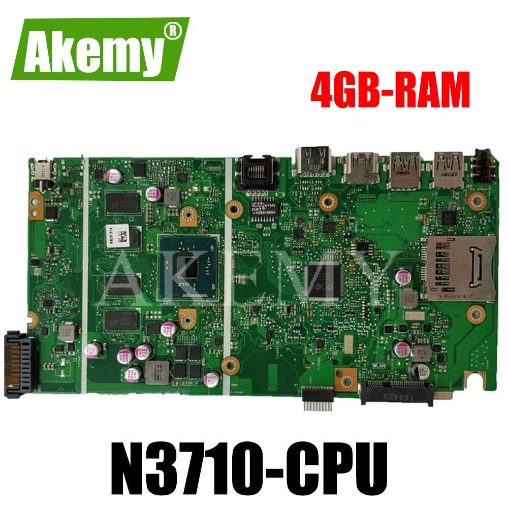 جديد! X541SA اللوحة الرئيسية REV 2.0 ل For For For Asus X541 X541S X541SA اللوحة الأم المحمول اختبار موافق N3710-CPU 4 النوى + 4GB-RAM