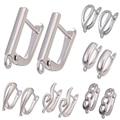 Крючок для сережек серебристого/золотистого цвета, аксессуары для ювелирных изделий своими руками, медные металлические серьги, фурнитура для женщин, жемчужные серьги ручной работы, крючки - фото