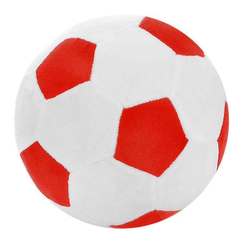 Pelota deportiva de fútbol, almohada, juguete de peluche suave relleno para niños pequeños, regalo para niños, 8 pulgadas de largo X 8 pulgadas de ancho X 8 pulgadas de alto, Rojo