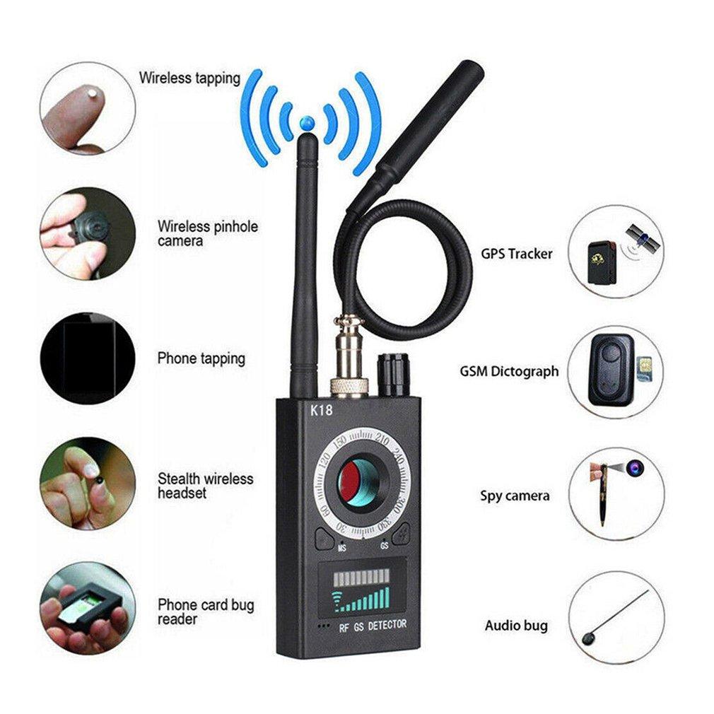 1MHz-6.5GHz K18 متعددة الوظائف مكافحة التجسس جهاز كشف الكاميرات GSM الصوت علة مكتشف لتحديد المواقع إشارة عدسة RF المقتفي كشف المنتجات اللاسلكية