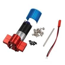 370 الطاقة المعادن موتور صندوق تروس معكوس مع الحرارة بالوعة RC قطع غيار السيارات ل WPL B1 B14 B24 C14 C24 B16 B26 B36 JJRC Q60