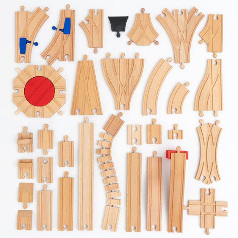 Аксессуары для деревянных треков, железная дорога из бука, игрушка для поезда, подходит для Biro, все бренды, деревянные игрушка для трека для ...