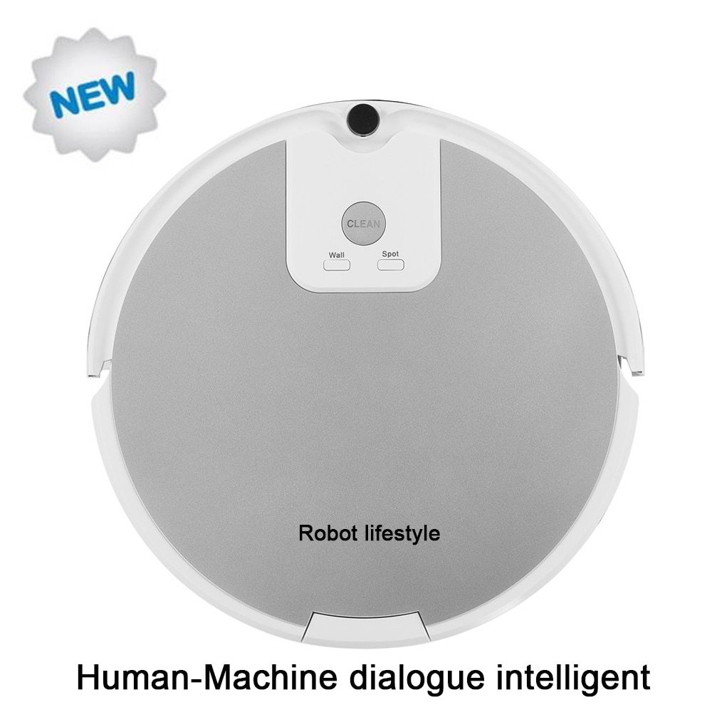 Local voz artificial inteligente interactivo aspiradora robot A590 humano-máquina diálogo aspirador inteligente