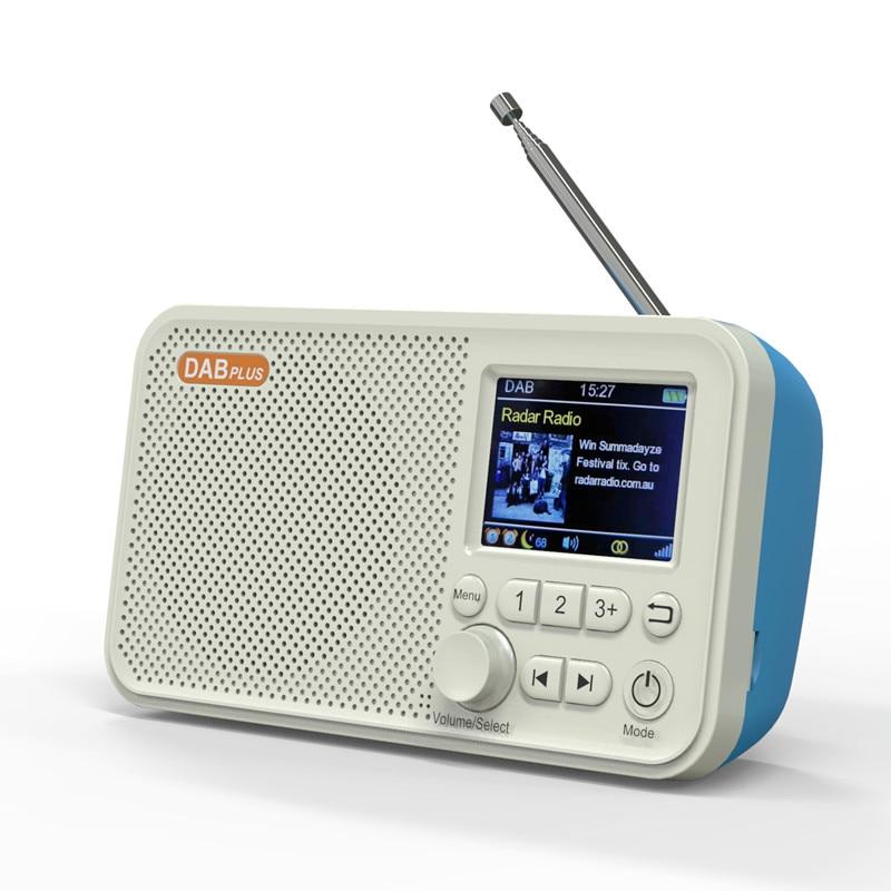 راديو رقمي DAB ، راديو FM ، شاشة LED ملونة 2.4 بوصة ، مع دعم بلوتوث لإدخال بطاقة SD ، مشغل MP3