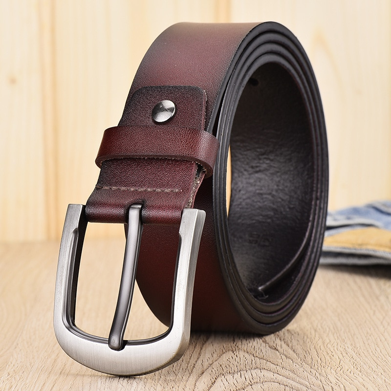 peikong Dropship High Quality Genuine Leather Luxury Strap Male Belts For Men Jeans Casual Belt Pin Buckle Masculine Cummerbund