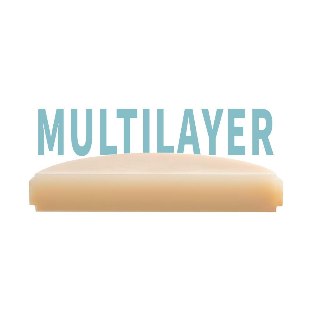 PMMA multicapa 3 piezas 9818mm Para wieland/ Roland dental labtory CAD CAM CAD sistema dentista material