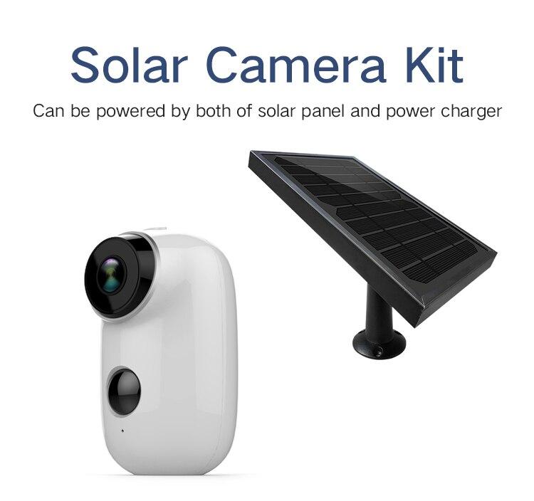 Panel Solar impermeable de seguridad Yobang + WIFI inalámbrico 1080P 2,0 M batería recargable Solar potencia vídeo seguridad interior IP cámara