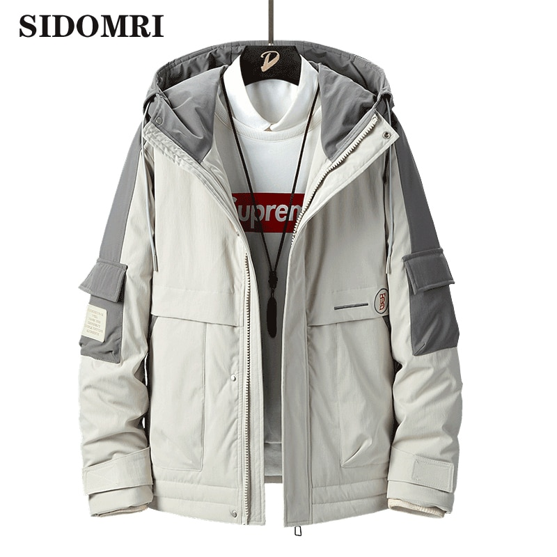 Winter men down jacket new 90% white duck down casual fashion high quality large white eider  windbreaker jacket for men