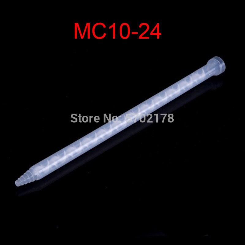 100 قطعة الراتنج ثابت خلاط MC10-24 خلط فوهات ل Duo حزمة إيبوكسيز ثابت خلاط AB البلاستيك مختلطة الغراء فوهة
