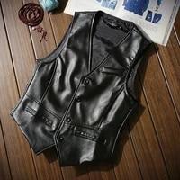 2021 new brand mens casual fashion pu vest mens vest fashion mens leather slim fitting clothes