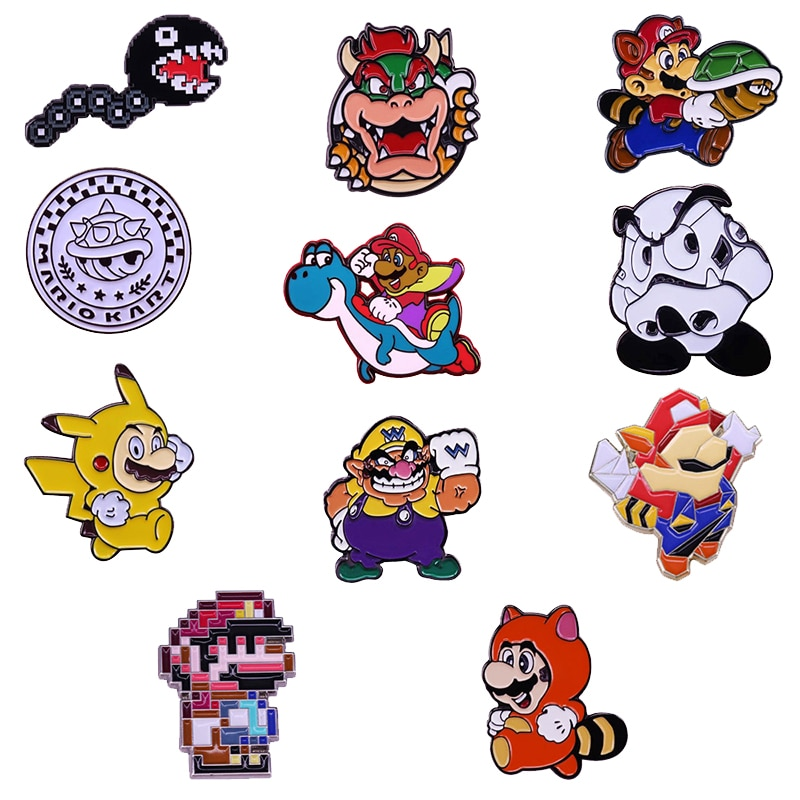 Super Fans, rejoice! Wear these game collector pins and display your favorite characters from the Mushroom Kingdom!