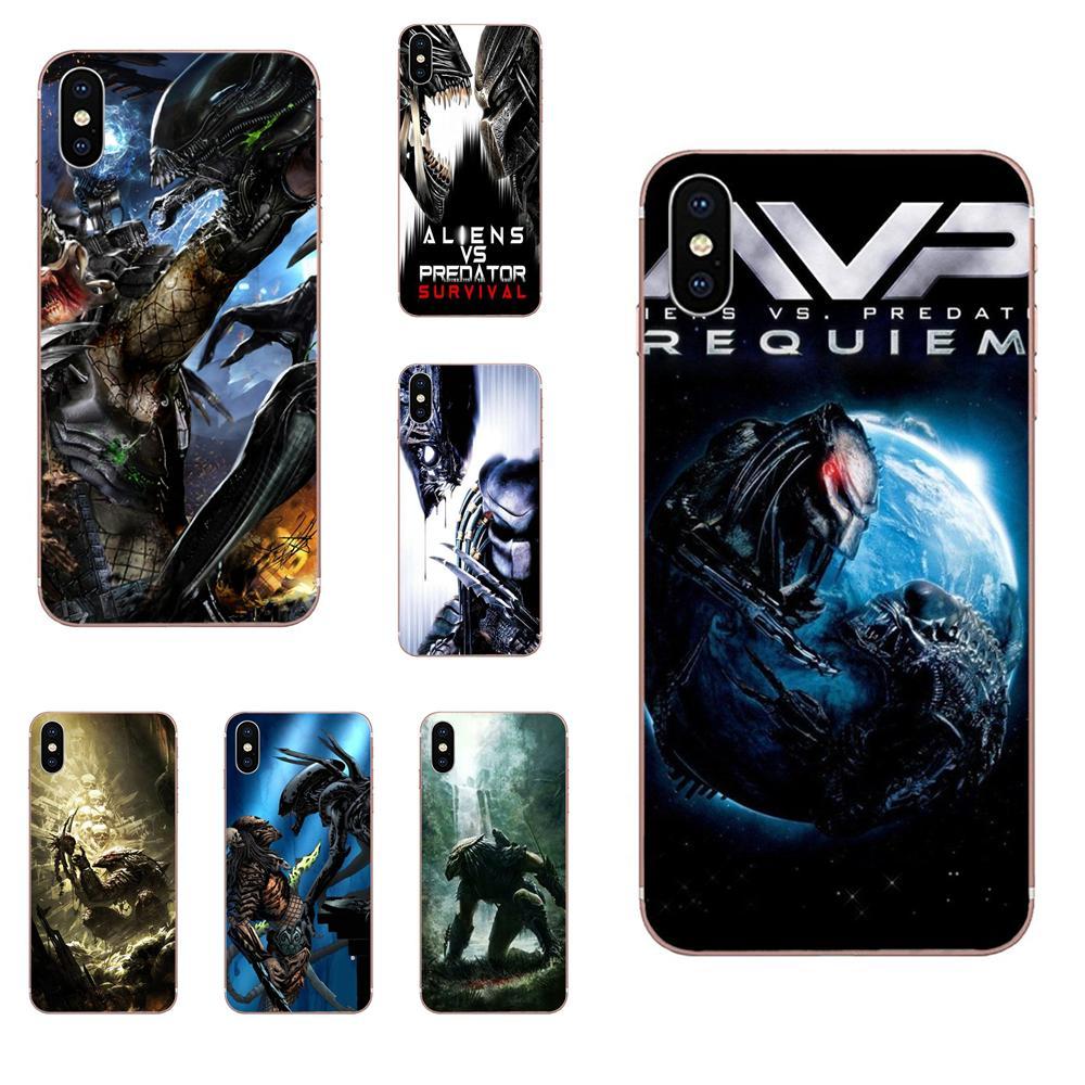 Alien Vs depredador para Samsung Galaxy A01 A51 A71 Galaxy S20 Ultra S11 S11E S10 Plus TPU cubierta de la piel de la caja del teléfono