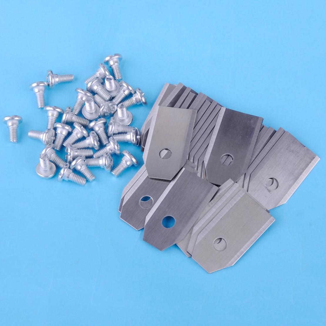 Letaosk 18x0.75mm cortador de grama lâmina auto apto para husqvarna 305 308 310 220ac 265acx gardena acessórios