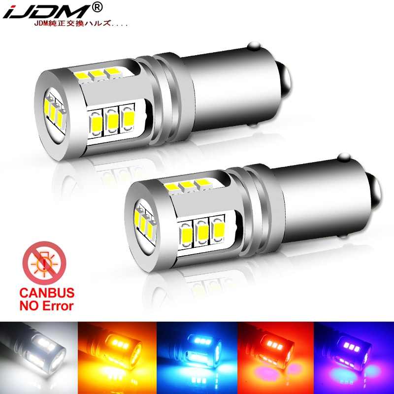 iJDM T4W BA9S LED Blub BAX9S H21W BAY9S LED 12V 24V H6W H5W LED For Car Rear Fog light Red White Auto Parking Reverse Lamp 6000K