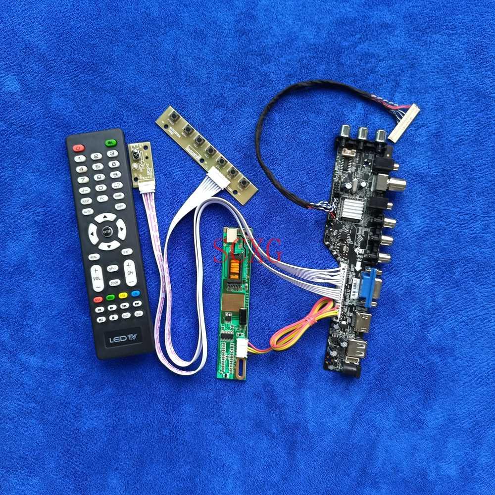 LVDS 30-Pin 1CCFL LCD شاشة محرك مجلس صالح LQ154K1LB5D/LQ154K1LBXX 1280*800 DVB إشارة رقمية لتقوم بها بنفسك عدة HDMI-متوافق VGA USB