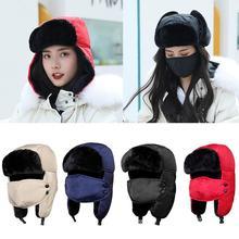 Kış sıcak kar kayak kayak önlükler eşarp şapka kalınlaşmak kulak koruyucu kap ile maske eşarp rüzgar geçirmez erkekler kadınlar Snowboard şapka