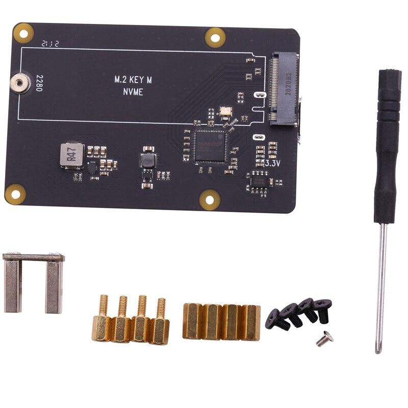 X873 V1.2 NVME M.2 2280 SSD لوح تمديد USB 3.0 امدادات الطاقة لتوت العليق Pi 4B