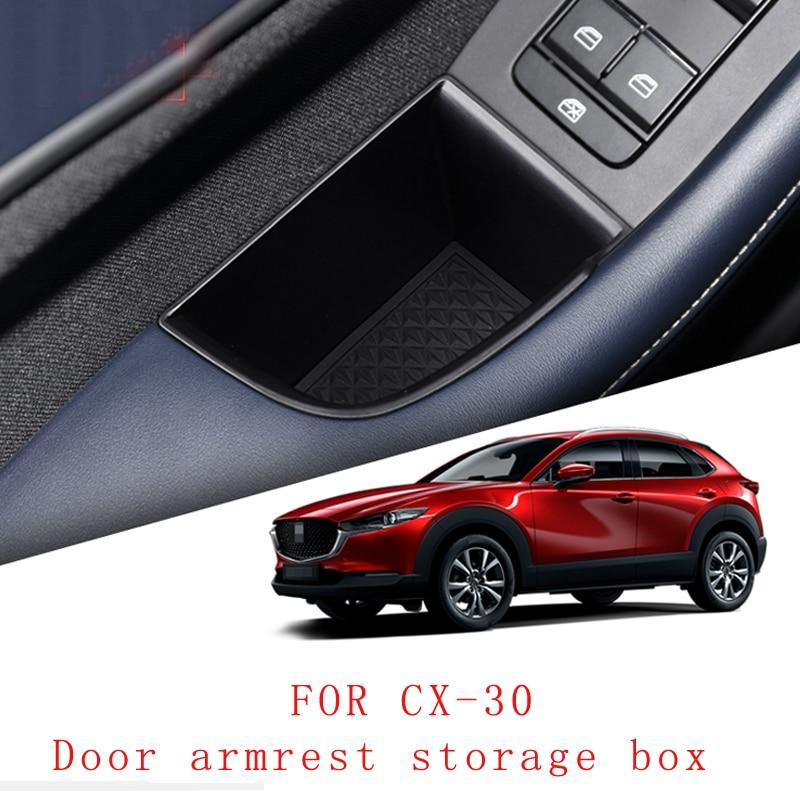 Автомобильный ящик для хранения дверной подлокотник коробка для хранения аксессуары для интерьера автомобиля Mazda CX-30 CX30 2020 2021