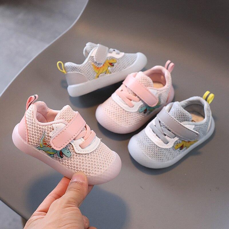 Детская спортивная обувь на весну и осень, детская обувь для малышей, сетчатая обувь с мягкой подошвой, детская обувь