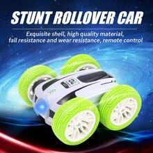 2.4G 4CH RC Car Drift Stunt Double-sided Stunt Car Rock Crawler Roll Car 360 Degree Roll Spinning Fl