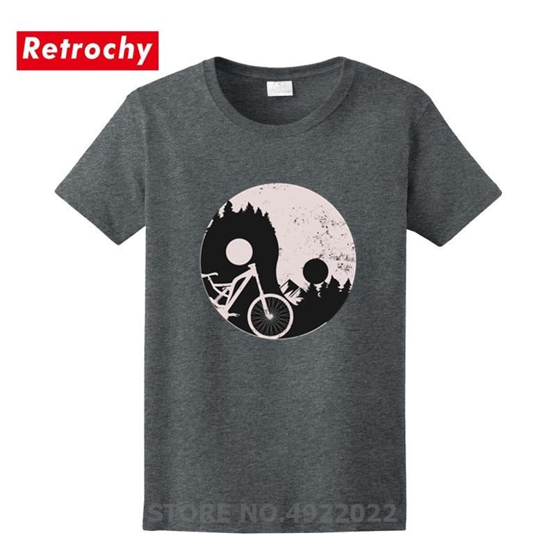 Camiseta de bicicleta de montaña MTB chino Ying Yang símbolo camiseta hombres 100% algodón Aerobic ciclismo camisa Cool Stranger Thing camisetas